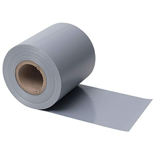 Videx PVC-Flex Sichtschutzstreifen Doppelstabmatten Aluminium, B: 19 cm, L: 35 m