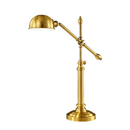 HLQW Lámpara de Escritorio de Cobre Completa Lámpara de Dormitorio Cálida Lámpara de Protección de Luz Personalidad Iluminación Creativa