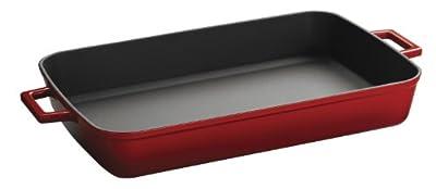Lava Signature Enameled Cast-Iron Rectangular Baking Dish, 10 by 16-Inch