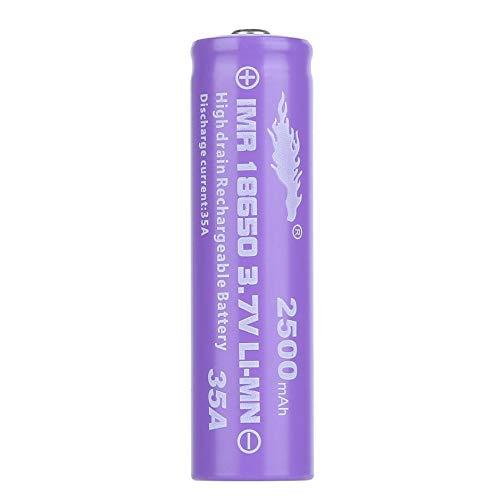 18650 LI-MN 2500mAh 3.7V Batterie à décharge élevée à haut bouton pour batterie torche LED Lampe torche Shell batterie pourpre - Violet