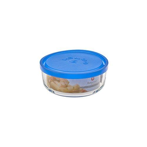 Borgonovo, 6277515Igloo - Recipiente de Cristal, Redondo, 15cm, Azul, Transparente/Azul