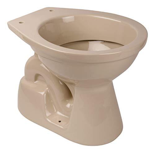 Calmwaters® - Stand-WC mit senkrechtem Abgang innen in Beige-Bahamabeige als Tiefspüler - 07AB3456