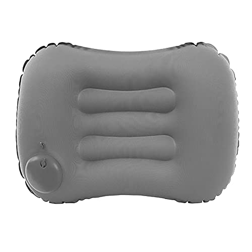 Inflatable Ultralight Travel Hand Press Camping Pillows Compressible Soft Comfortable Ergonomic for Neck & Lumbar Support Outdoor Camp Hiking Sleep