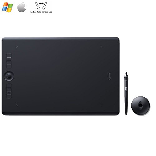 Wacom Intuos Pro Medium Creative Pen Tablet,Black PTH660 - (Renewed)