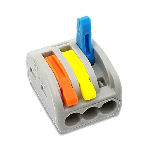 Bloques de conector eléctrico, abrazadera de alambre, bloque de terminales, conector de empalme, conector de terminales de alambre 30/50/100 PCS / Color Mini Conectores de cable rápido Conector de cab