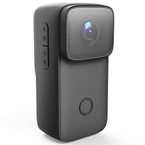 SJCAM C200 Keychain Action Camera 4K 24FPS 16MP with EIS 2.0 and Video Recording Slow Motion Time Lapse Hands-Free Mini Vlogging Camera On-The-Go