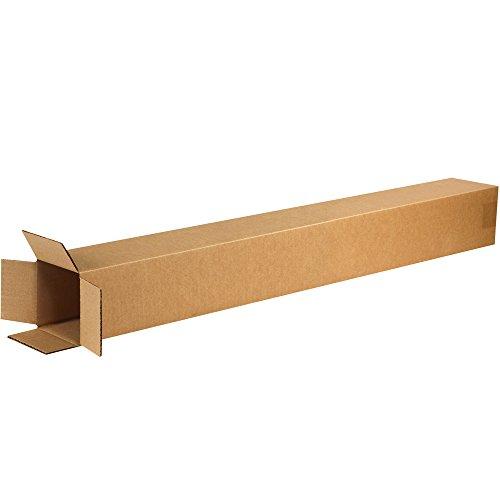 Aviditi 4440 Tall Corrugated Box, 4' Length x 4' Width x 40' Height, Kraft (Bundle of 25)