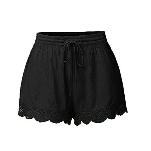 N\P Pantalones cortos para mujer de talla grande pantalones cortos de deporte casual de verano