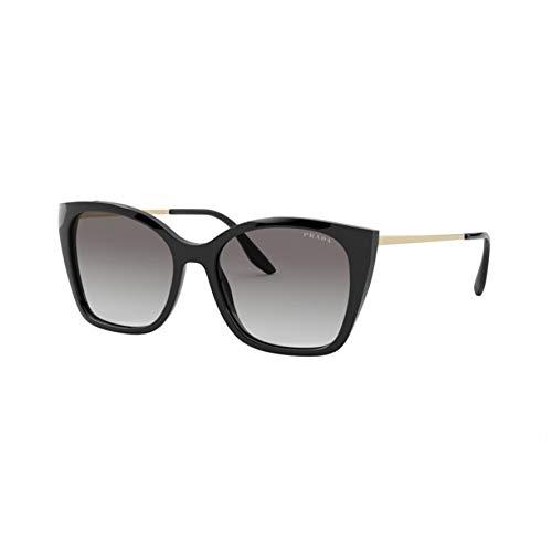 Prada Damen 0PR 12XS Sonnenbrille, Black/Light Grey Shaded, 54