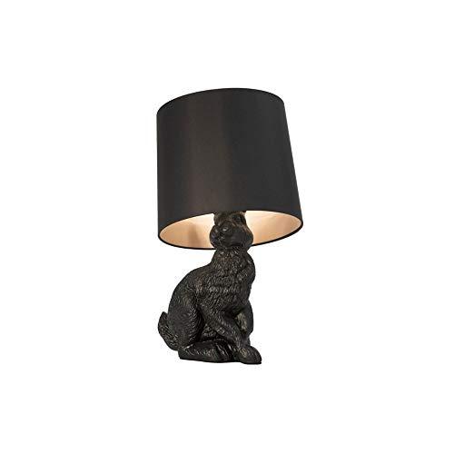 WZHZJ Iluminación Interior nórdicos LED lámpara for la Mesa Luces Animales Dormitorio lámpara de cabecera Resina Conejo lámpara de Mesa