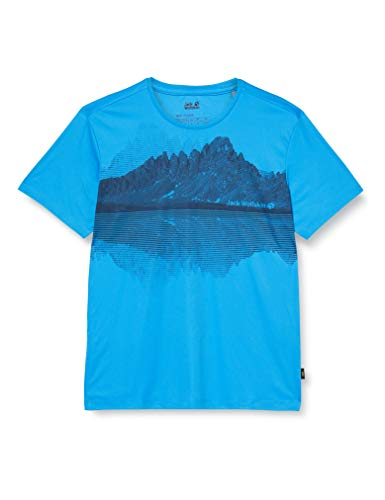 Jack Wolfskin Peak Graphic T-Shirt Homme T-Shirt Homme Brilliant Blue FR : XL (Taille Fabricant : XL)