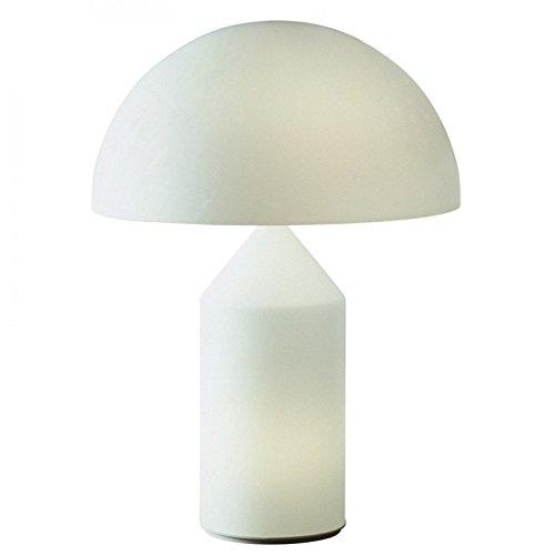 Lámpara de mesa Atollo de Oluce - Cristal ópalo, 237