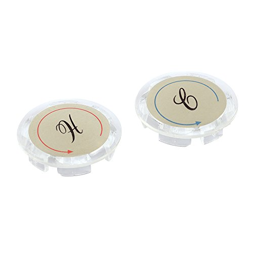 Prime-Line MP54300 Universal Index Buttons, 1-5/16 in. Diameter, Clear Acrylic, Hot/Cold, Pack of 2