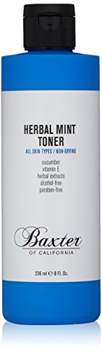 Baxter of California Herbal Mint Toner for Men | All Skin Types | Non-Drying | Paraben-Free | 8 fl oz