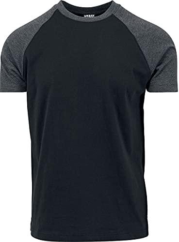 Urban Classics Raglan Contrast tee Camiseta, Multicolor (blk/cha 445), XXL para Hombre