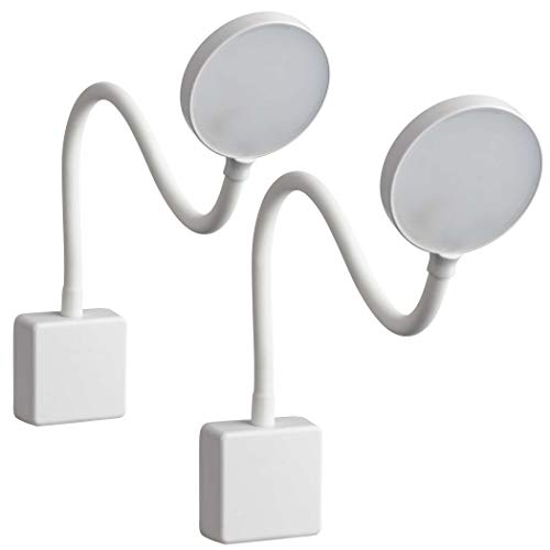 SEBSON LED Steckdosenlampe dimmbar weiß - 2er Set - Leuchte für die Steckdose 4W, Steckerleuchte flexibel neutralweiß 4000K, Leselampe, Nachtlicht