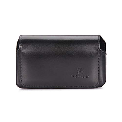Black Horizontal Leather Case Compatible with Samsung Strive A687, Solstice A887 2 A817, SGH-A187, Rogue U960, Reverb, R355C, Omnia i910, Montage, Messager Touch R631 R630, Magnet A257