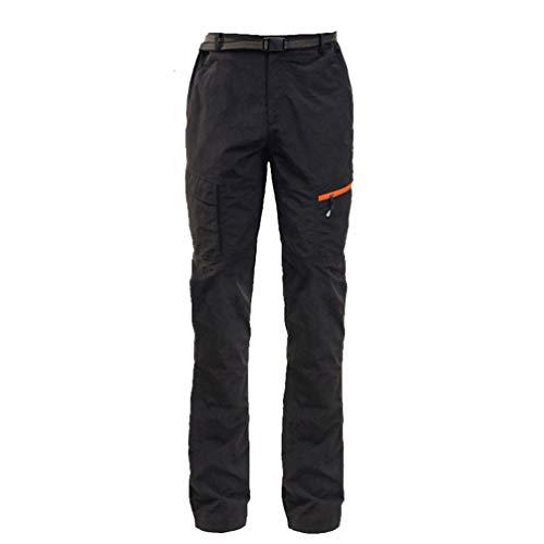 LaoZan Hombres Mujer Exterior Conjunto Chaqueta Pantalones de Senderismo Hidrófugo Respirable Secado Rápido Escalada Ropa de Calle Pantalones de Ciclismo (Negro#2(Hombres),L