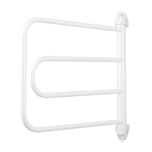 Orbegozo TH 8003 - Toallero eléctrico, fácil instalación, seca y calienta toallas, rotación ajustable, indicador luminoso, 85 W, color blanco