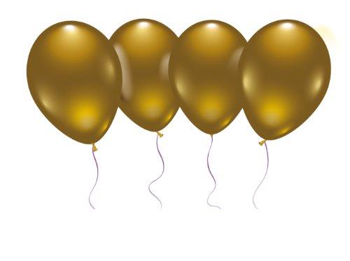 Buy Karaloon 10011 8 Balloons, Diameter-25 cm, Gold, Multi Colour
