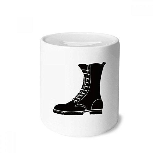 DIYthinker Botas masculinas pretas de cano alto padrão caixa de dinheiro caixa de cerâmica porta-moedas presente de cofrinho