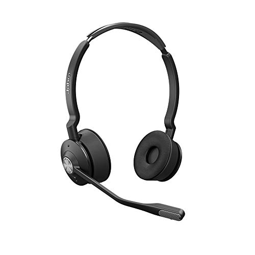 Jabra Engage 75 Stereo Wireless-Profi-Headset mit DECT/Bluetooth für 5 Endgeräte, mit Ladeschale, Skype for Business Open Office zertifiziert