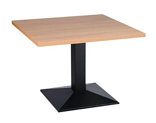 Net Furniture Quinn Fonte Medium Base de Table Basse Dessus en chêne carré DE 80 cm