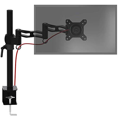 Duronic DM351X3 /BK Soporte para Monitor de 13' a 27' Pulgadas - Altura ajustable - Giratorio / Inclinable / 2 Brazos Extensibles –Compatibilidad universal con Ordenador, TV LED, LCD de 8 Kg Máx – Color negro