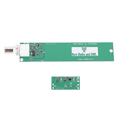 ETbotu Elektronische componenten Mini-Whip HF VLF Antenne RX Active 10 kHz tot 30 MHz (PCB compleet gemonteerd) Eén maat Groen