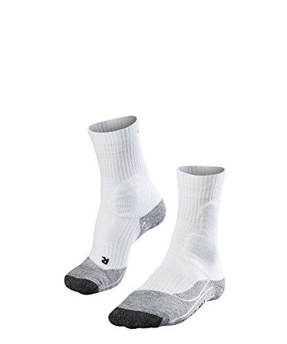 FALKE Herren Tennissocken TE2, Socken zum Tennis spielen mit Baumwolle, 1 er Pack, Weiß, Größe: 42-43