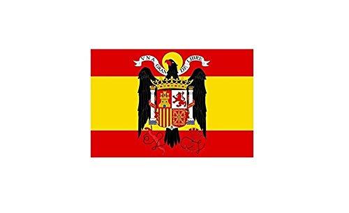 Gemelolandia Bandera Española Aguila de San Juan 90x150cm   Complementos de Todo Tipo para Decorar Looks y Espacios