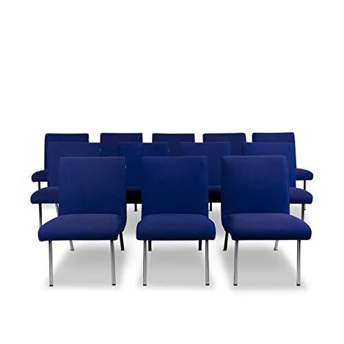 Walter Knoll Vostra Fabric Armchair Set Blue 12x Chair