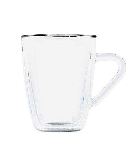 Luigi Bormioli 1457 doppelwandiges Borosilikatglas Kaffee und Tee 320 ml, 2-er Set