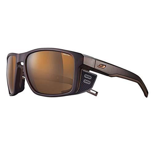 Julbo Unisex Shield Sonnenbrille, Braun/Schwarz, Einheitsgröße