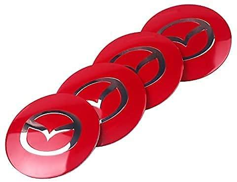 4 Piezas Coche Centro Tapacubos Para Mazda Axela 2 3 5 6 CX-5 CX 7 CX-9, Tapas Prueba Polvo Impermeable Tapas Llantas Pegatinas Accesoriosetiqueta Engomada