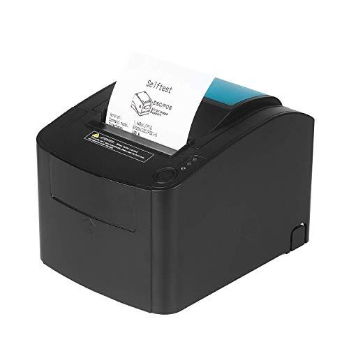 FACAIA Impresora térmica, 80 mm 300 mm, s Impresora de Etiquetas de Recibos de Alta Velocidad Compatible con el Conjunto de comandos de impresión ESC, POS para minoristas, Tiendas, restaurantes,
