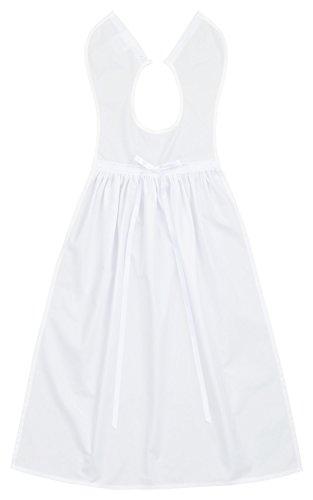 Bateo Design Baby Taufaufleger Baumwolle mit Durchzugsspitze und Bindeband in Weiß