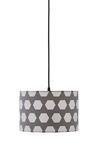 Prachtige grijze lampenkap 30 cm van kwalitatief hoogwaardige materialen!