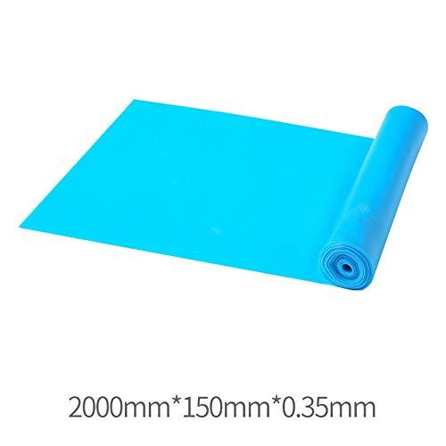Übungs-Bänder Resistance Band Yoga Zugband elastische Folie for Krafttraining Krafttraining (Farbe : Blau, Size : 2000X150X0.35mm)