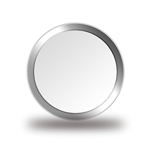 CELLBEE 2X Home Button Touch ID Sticker Geeignet Für iPhone iPad Home Button Aufkleber Weiß Silber Ring 2.0 - Erhöhung iPhone 6 6s 7 8 Plus SE 2020 iPad Air Mini Panzerglas