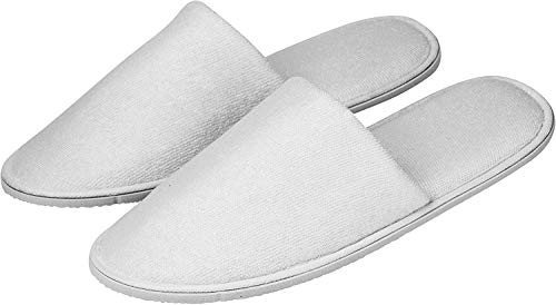 10 Pares de Zapatillas de Viaje, Zapatillas de Invitados Pantuflas SPA Lavable Pares de Zapatillas de Hotel Unisex para Baño, Invitados, Viaje, Hogar, Boda