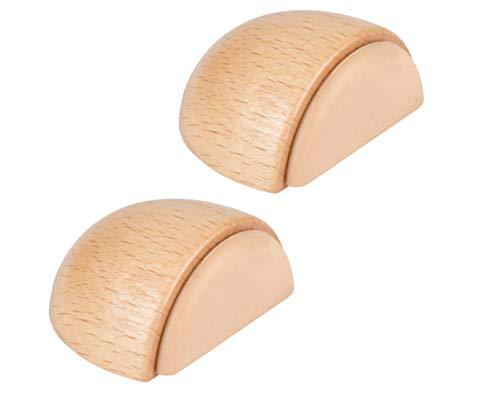 LouMaxx Türstopper Boden selbstklebend Holz, 2er Set - Türstopper Boden - Türstopper zum kleben - Türstopper Boden selbstklebend - Türstopper kleben - Selbstklebende Türstopper in Buche–Optik