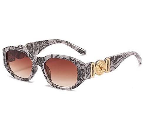 LITO Gafas de sol unisex para hombre y mujer, protección UV400, colección Glammy, plateado y negro,