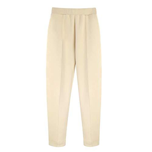 YIBANG-DIANZI Hoddie para Mujer Mujeres Unisex Pareja con Capucha, Invierno Casual Suelto Jumper más tamaño Señoras de otoño e Invierno Tops (Color : Pants 2 Beige, Size : L)