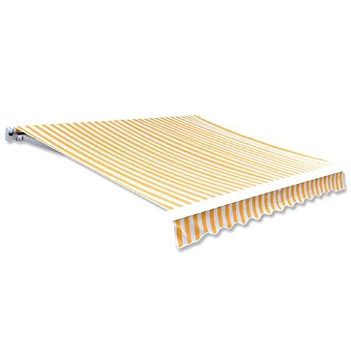 vidaXL Parte Superior del Toldo Repuesto de Lona Amarillo Girasol & Blanco 3x2,5 m Sin Armazón