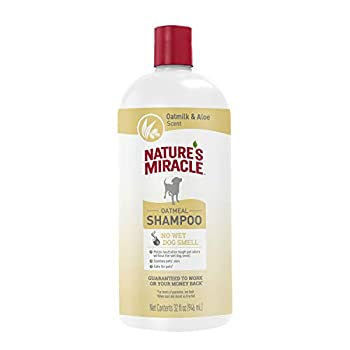 Nature s Miracle Oatmeal Shampoo for Dogs 32 Ounces Oatmilk and Aloe Scent