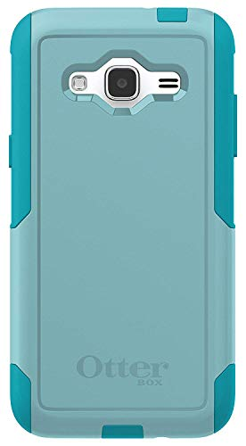 OtterBox Commuter Series Case for Samsung Galaxy J3 2016 ONLY (NOT 2017) & J3 V - Non-Retail Packaging - Aqua Sky