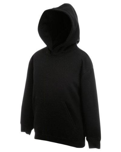 Fruit Of The Loom Kids Childrens Hoodie Hooded Sweatshirt Black 9-11 Years