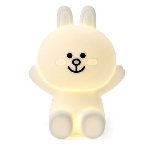 YDH Lámpara decorativa de silicona con diseño de conejo Miffy Bear, color marrón claro