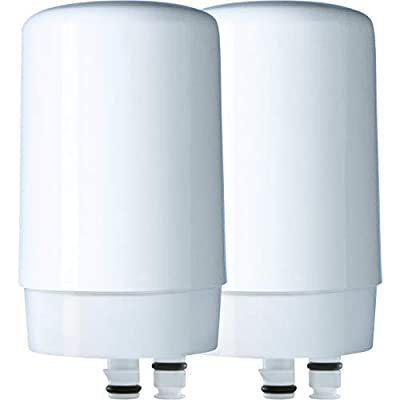 Brita 36311 Basic On Tap Faucet Water System Replacement Filters, 2ct, White